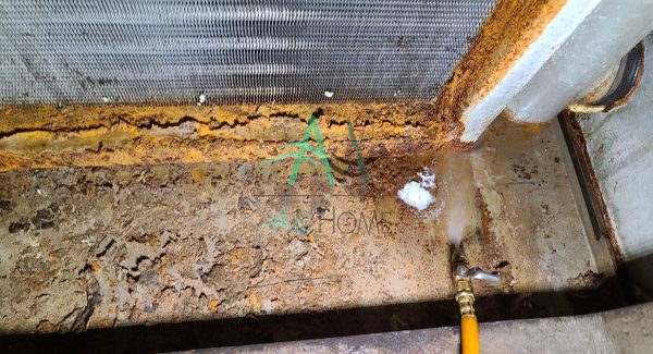 空調箱排水盤堵塞